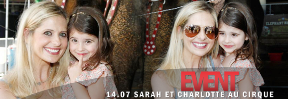 SARAH MICHELLE GELLAR AND CHARLOTTE ATTEND RINGLING BROS. AND BARNUM & BAILEY CIRCUS